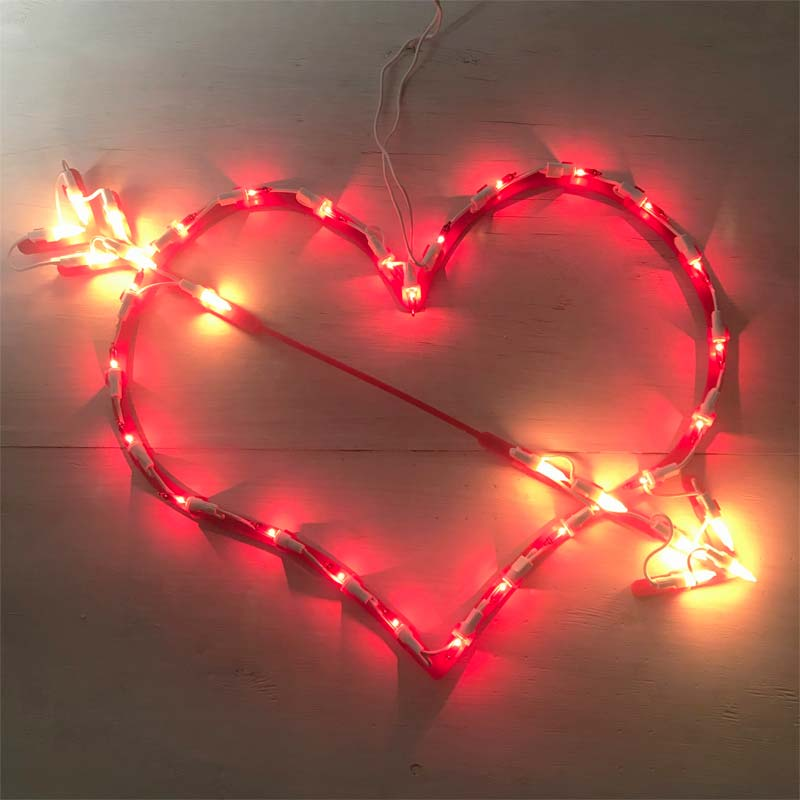 Valentine's Day Red Heart Lighted Sculpture