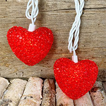 Valentines day Heart String Lights