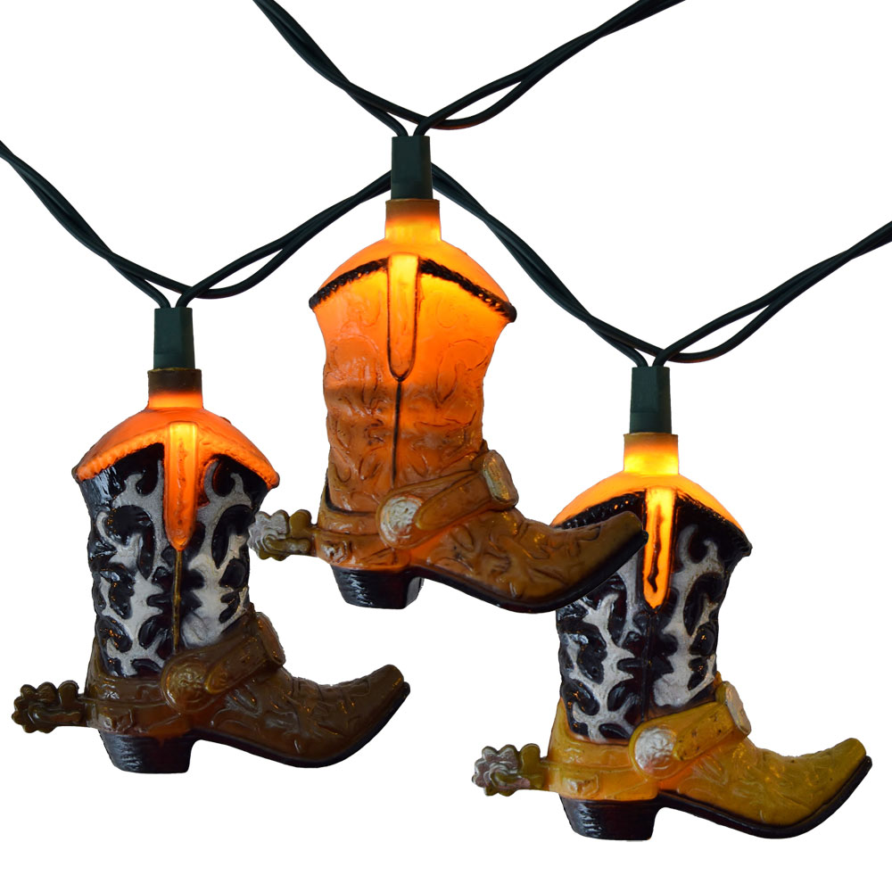 Cowboy Boots Party String Lights
