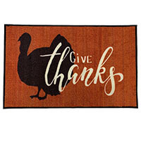 2' x 3 ' Give Thanks Thanksgiving Welcome Door Mat
