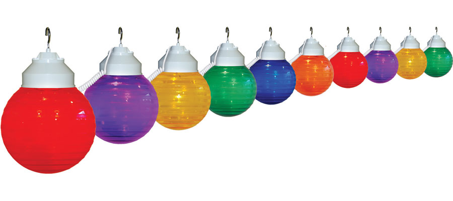 10 Globe Multi-Color Festive String Lights