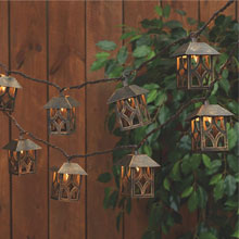 Antique Brass Lantern String Lights - 8.5 ft. GC2341110
