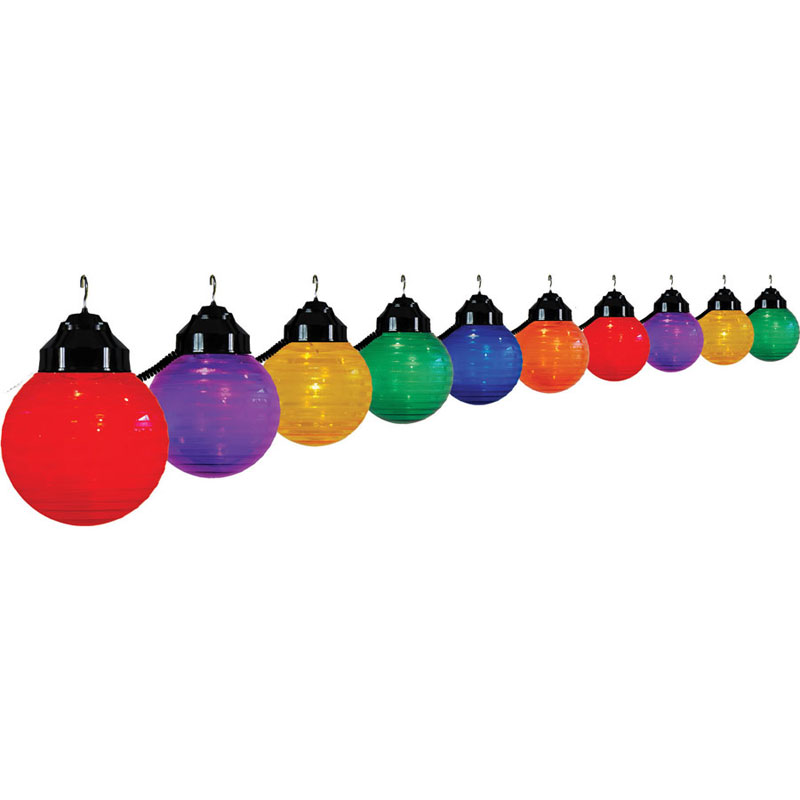 Multi-Color Globe Festival String Lights - Black Wire