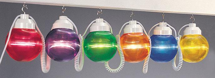 6 Quot Multi Color Prismatic Globe String Light Set