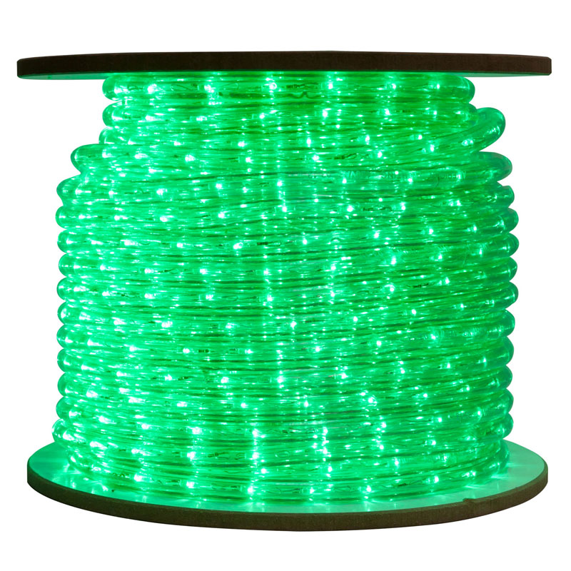 Green Bulk LED Rope/Tube Light Reel - 150'