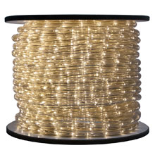 Warm White Bulk LED Rope/Tube Light Reel - 150'