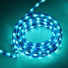 "18' Rope/Tube Light - 3/8"" Diameter - Blue"