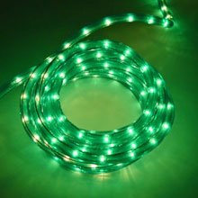 "18' Rope/Tube Light - 3/8"" Diameter - Green"