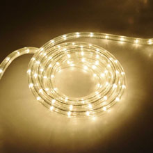 "18' Rope/Tube Light - 3/8"" Diameter - Clear"