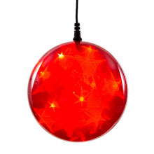 "Battery-Operated 6"" Red Starfire Sphere - 24 LED Bulbs"