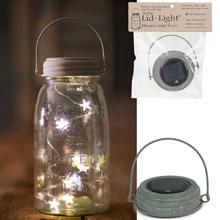 Barn Roof Hanging Solar Lid Light - Star Shaped Angel Tear Lights