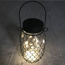 Solar Mason Jar w/ Chicken Wire GC93745