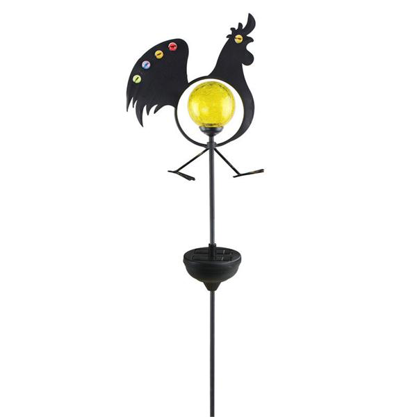 Jeweled Rooster Stake Light