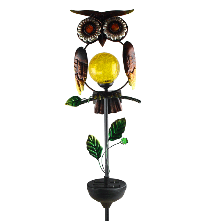 "Owl Stake Light - LED Solar Powered Moonray - 39.4"" MR-92213"